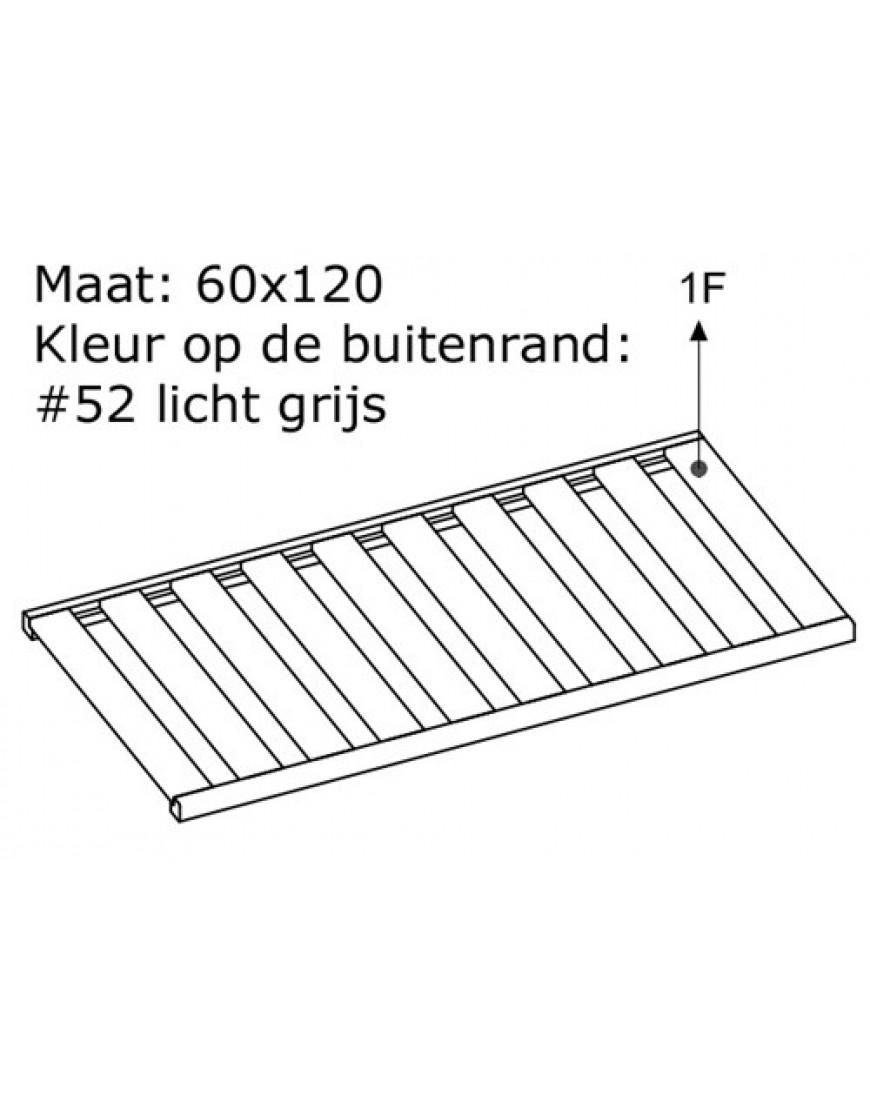 LATTENBODEM 60X120 LICHT-GRIJS #52