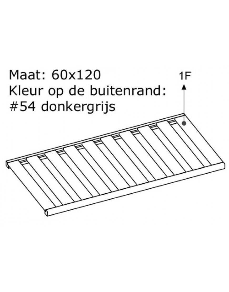 LATTENBODEM 60x120 DONKERGRIJS # 54